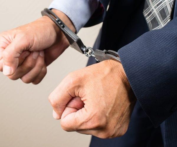 Man has been handcuffed